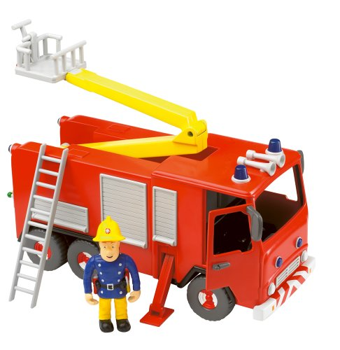 Fireman Sam - Friction Fire Engine with Sam Figure - Friction Fire Engine