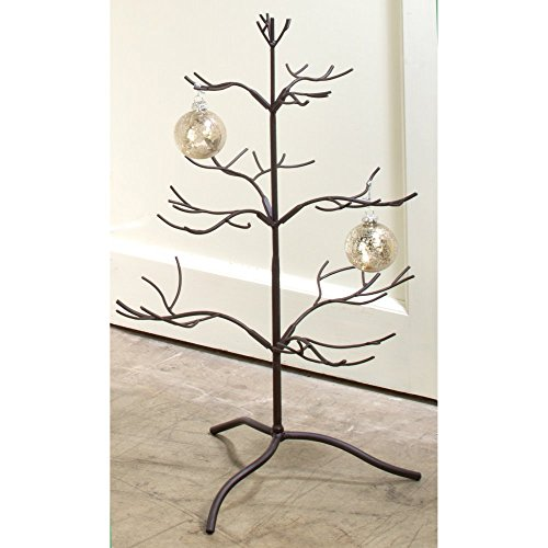 Metal Ornament Display Tree 25 Inches Tall ~ Mahogany (Metal Tree Display)
