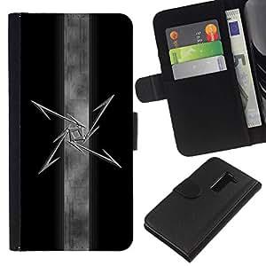 All Phone Most Case / Oferta Especial Cáscara Funda de cuero Monedero Cubierta de proteccion Caso / Wallet Case for LG G2 D800 // Tribal Star