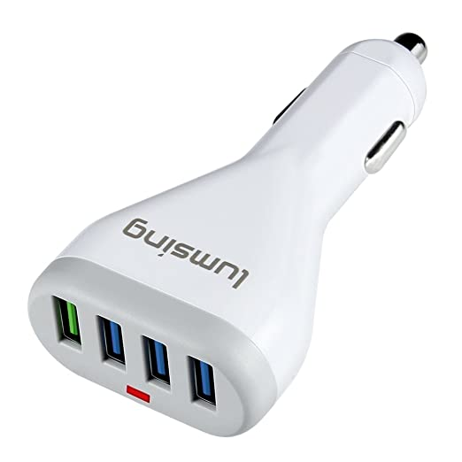 2 opinioni per Caricatore per Auto Lumsing 4 Porte USB con Tecnologia Quick Charge 3.0 per