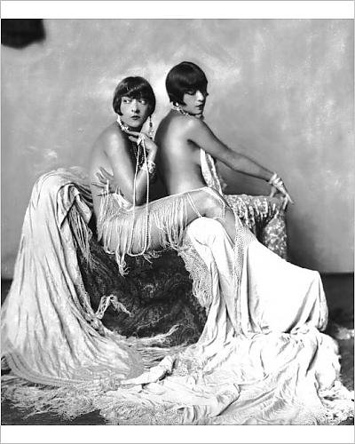 Photographic Print of The Dolly Sisters, New York (Cabaret Outfits)