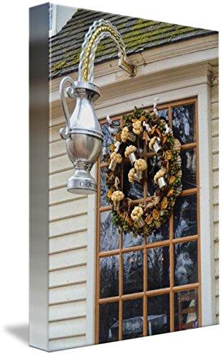 Imagekind Wall Art Print Entitled Wreath by Paul Coco | 7 x 10 (Williamsburg Christmas Wreaths)