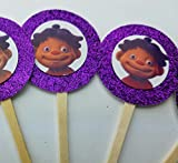 8 Sid the Science Kid Cupcake Toppers Purple Favors Girl Boy Birthday Party Favor Tags Bags SAME DAY SHIPPING