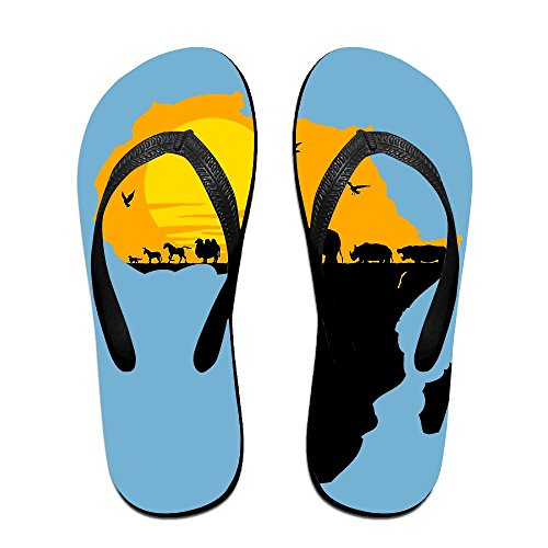 Africa Animals Flip Flops Fashion Sandals Multicolored Pool Slippers For Men Women by Ncwi Wa
