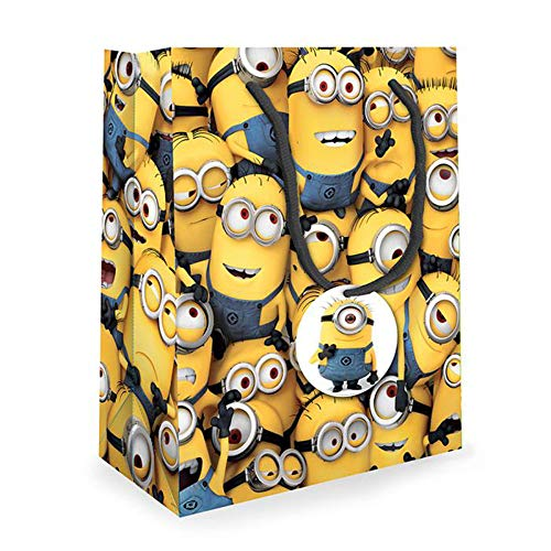 Unique Party Despicable Me Many Minions Gift Wrap Bag (Many Minions)]()