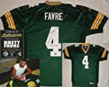 Brett Favre Hand Signed / Autographed Green Bay Packers Authentic Green Jersey