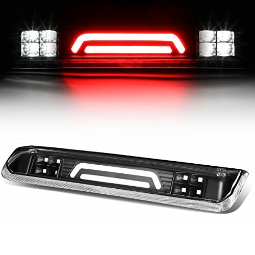 (For Ford Explorer Sport Trac/F-150 3D LED Light Bar Third Brake Lamps (Black Housing/Clear Lens) 4th)
