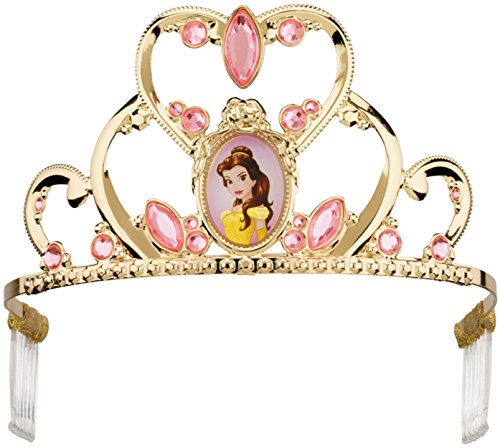 Disney Belle Costumes Tiara (Disguise Belle Deluxe Disney Princess Beauty & The Beast Tiara, One Size Child)
