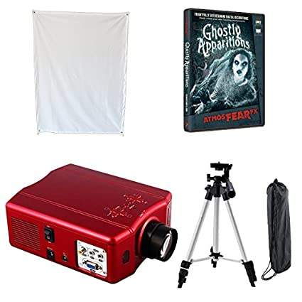 atmosfear fx ghostly apparitions dvd and projector kit special virtual reality halloween window projector kit