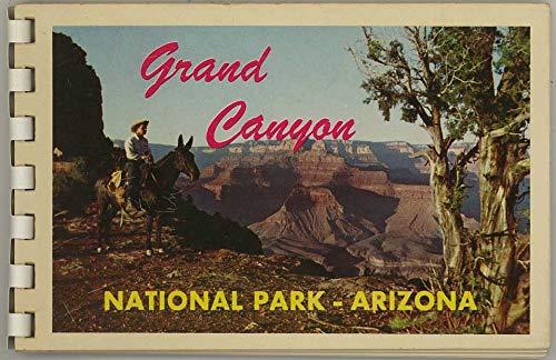Grand Canyon National Park Arizona - 1956 Fred Harvey Souvenir Postcard Photo Album - Plastic Comb