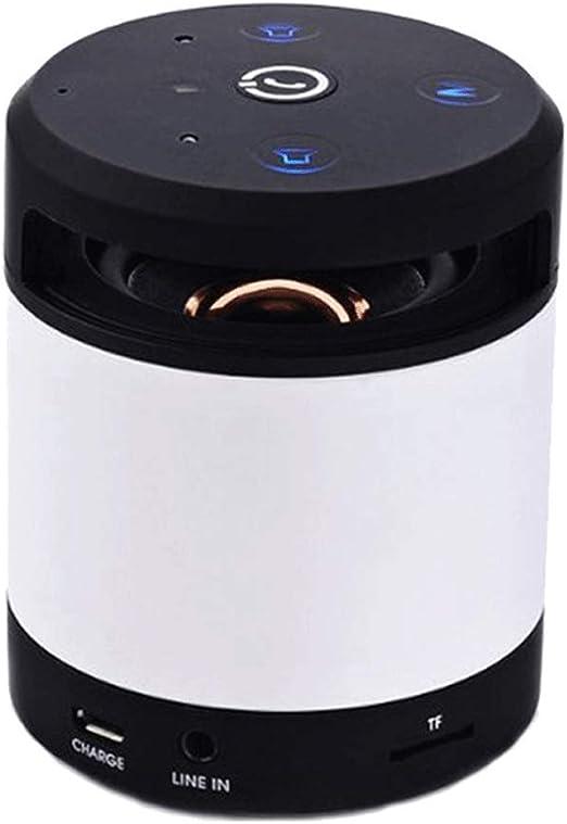 wangli Altavoces Inalámbricos Bluetooth Subwoofer De Audio con Ondas De Inducción Portátiles Mini Tarjeta Altavoces,White: Amazon.es: Jardín