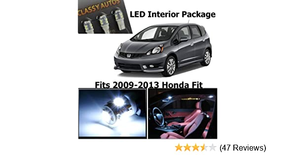 Amazon.com: Classy Autos Honda FIT JAZZ White Interior LED Package (4 Pieces): Automotive