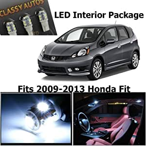 classy autos honda fit jazz white interior led package 4 pieces automotive. Black Bedroom Furniture Sets. Home Design Ideas