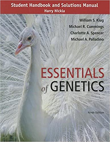 Study guide and solutions manual for essentials of genetics study guide and solutions manual for essentials of genetics 9th edition fandeluxe Gallery