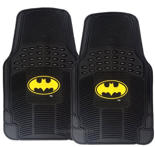 premium-waterproof-batman-rubber-floor-mats-classic-yellow-logo-on-2pc-front-black-heavy-duty-mats-d