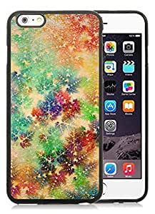 Featured Desin iPhone 6 Plus Case,Colorful Christmas snowflake Black iPhone 6 Plus 5.5 TPU Case 1