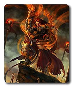 hard mouse pad Red Warlord Art PC Custom Mouse Pads / Mouse Mats Case Cover