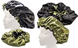 Product review for (XX- Jumbo, MOSS GREEN) Handmade Fully Reversible Luxuries Satin hair bonnet for Women, Men, Kids & Teens Safe Anti Aging Hair Care