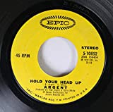 Argent 45 RPM HOLD YOUR HEAD UP / CLOSER TO HEAVEN