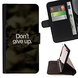 /Skull Market/ - DON'T GIVE UP For Apple Iphone 4 / 4S - Caja de la carpeta del tir???¡¯???€????€??????????&fno