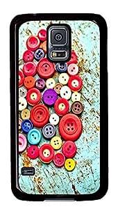 Samsung Galaxy S5 Buttons PC Custom Samsung Galaxy S5 Case Cover Black