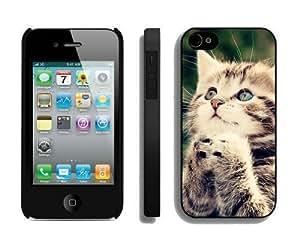 2014 Latest Christmas Cat iPhone 4 4S Case 29 Black