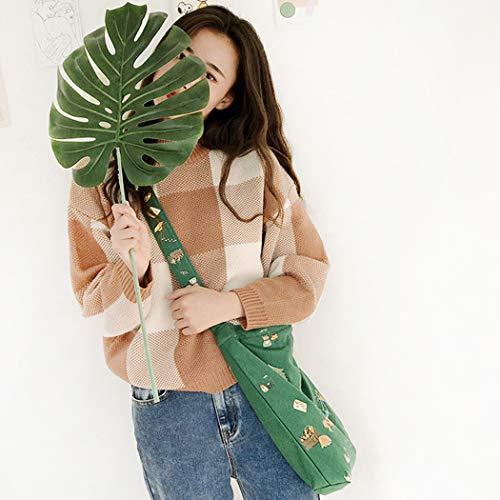 De Dessinée En Sac À Pour Toile Bandoulière Green Coafit Bande Femme Créatif UwY8qH8I