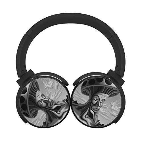 Mr Mushroom Multicolor Folding Design Wireless Bluetooth Headphones Running with Mic Over Ear, Headsets for IPhone, IPad, Smartphone and TV, 3.5mm Plug (Playtime Basketball Standard)