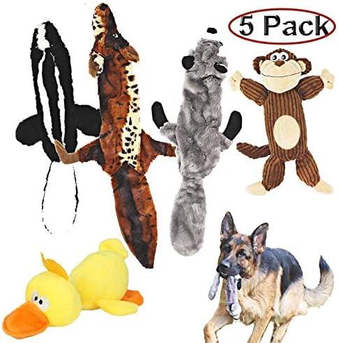 5 unids/set Mascota Gato Chew Squeaker Juguete para Perro Gato ...