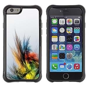 "Pulsar iFace Series Tpu silicona Carcasa Funda Case para Apple (4.7 inches!!!) iPhone 6 , Dibujo Lápiz de colores Pájaro"""