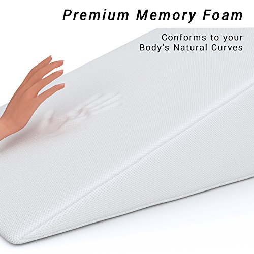 Bed Wedge Fitplus Premium Wedge Pillow 1 5 Inches Memory