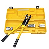 11 4 hose - HG 16 Ton Hydraulic Wire Terminal Crimper Battery Cable Lug Crimping Tool 11 Dies