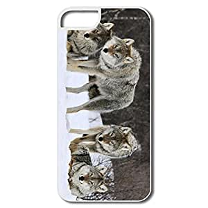 IPhone 5/5S Cases, Gray Wolves Norway Cases For IPhone 5 - White Hard Plastic
