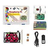 uniquegoods Kit de inicio Raspberry Pi 3 (Modelo B): incluye pantalla táctil de 3,5 'y estuche Rainbow (Colorido)