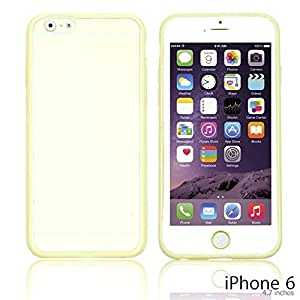 OnlineBestDigital - Colorful Gel Outlet with Hard Back Case for Apple iPhone 6 (4.7 inch)Smartphone - Yellow