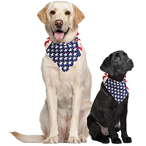 Pet Bandanas Usa Dog Large American Flag Dogs Medium Or