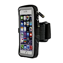 Gear Beast Sports Armband For Apple iPhone 6 6s Samsung Galaxy S7 With Slim Cell Phone Case. Phone Case Armband Holder For Running Jogging Workout Fitness And Exercise. Waterproof Reflective Band