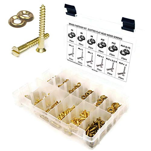 BRASS AND NICKEL PLATED SURFACE STEEL CUP WASHERS FOR COUNTERSUNK WOOD SCREWS