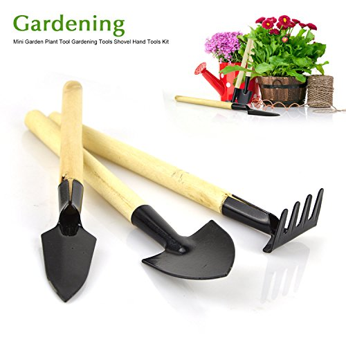 Freehawk mini gardening plant pot 3 pieces gardening for Small garden hand tools