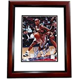 Signed Stephon Marbury Photograph - 8x10 MAHOGANY CUSTOM FRAME - PSA/DNA Certified - Autographed NBA Photos