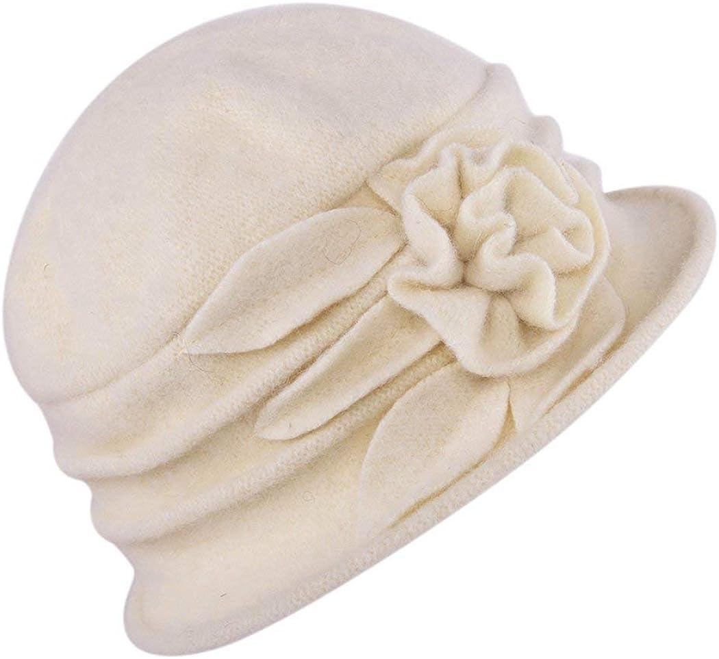 Beanie Bell Hat Ladies Vintage Bucket Hat Beret Cloche Sombrero De Copa Años 20 Con Detalle Floral Sombrero De Invierno Slouch Hat Caps