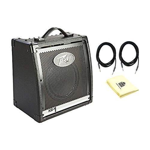 Peavey 00573100 KB 1 20W Keyboard Amplifier With a Pair of Instrument Cables and Polishing Cloth by Peavey