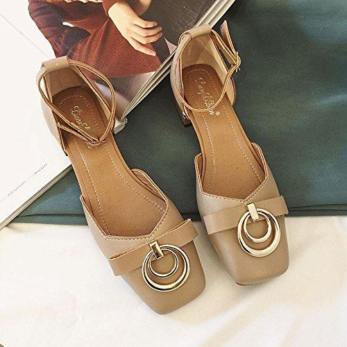 Chaussures bas Kaki pour l'extérieur femmes Talon beige en Vert d'été Sandales confort caoutchouc Khaki ZHZNVX Fd48zF