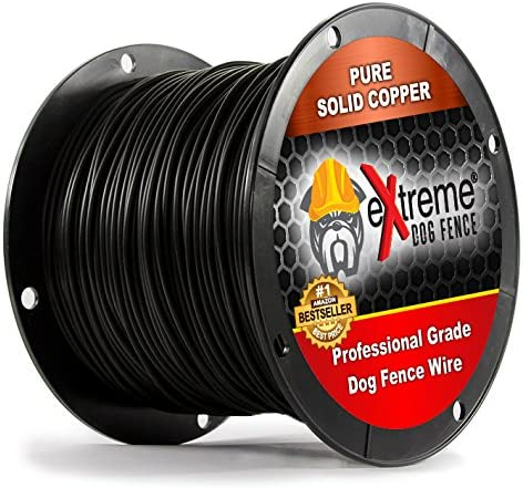 PetSmart Invisible Fence Compatible Above Ground or Underground Wire for DIY Electric Pet Fence – 1500 Foot Spool High Performance Solid Core Copper Wire for Easy Installation