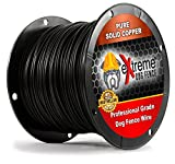 PetSmart Invisible Fence Compatible Above Ground or Underground Wire for DIY Electric Pet Fence - 1500 Foot Spool of Better Quality High Performance Solid Core Copper Wire for Easy Installation