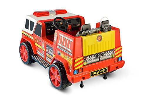 kid motorz fire engine 2 seater import it all. Black Bedroom Furniture Sets. Home Design Ideas