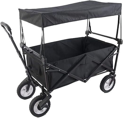 JYGM Carrito de jardín | Plegable, 80 kg, 4 Ruedas, con Techo de Sombra de Sol/Lluvia, portátil | Carrito de Mano, Carro Plegable, Carro Plegable para Acampar, D: Rosa: Amazon.es: Hogar