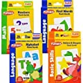 Playskool Flash Cards with Reward Stickers - 4 Sets of Flash Cards (Alphabet, Numbers, Colors and Shapes, First Words)