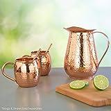 Artisan's Anvil Copper Jug w/Copper Handle, Pure
