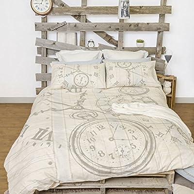 Retro Bed Time Quilt Cover Set Double Bed Size Amazon Com Au Kitchen